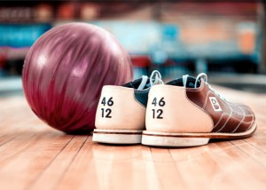 Rental bowling shoes, bowling ball